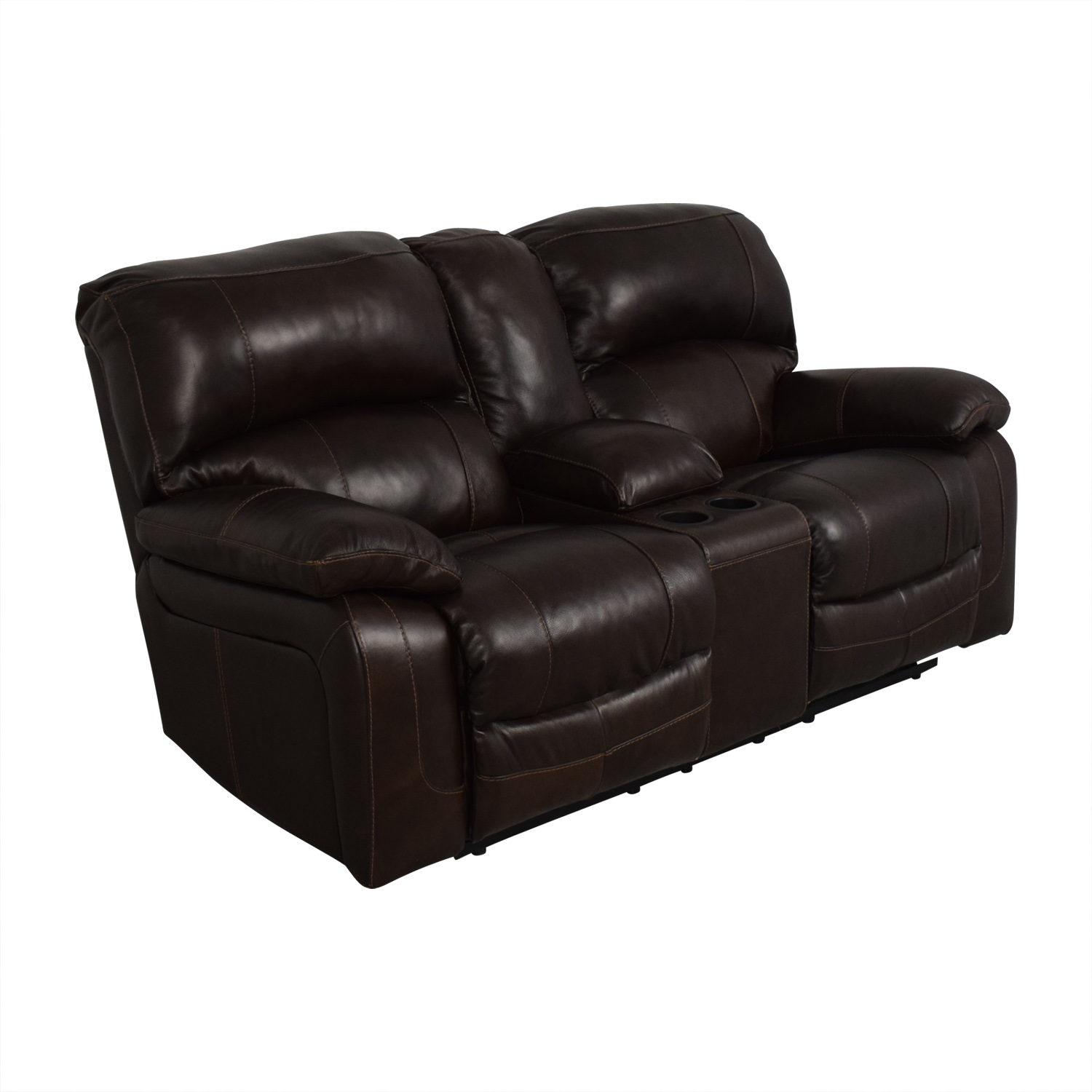 Ashley Furniture Ashley Furniture Reclining Sofa Dark Brown