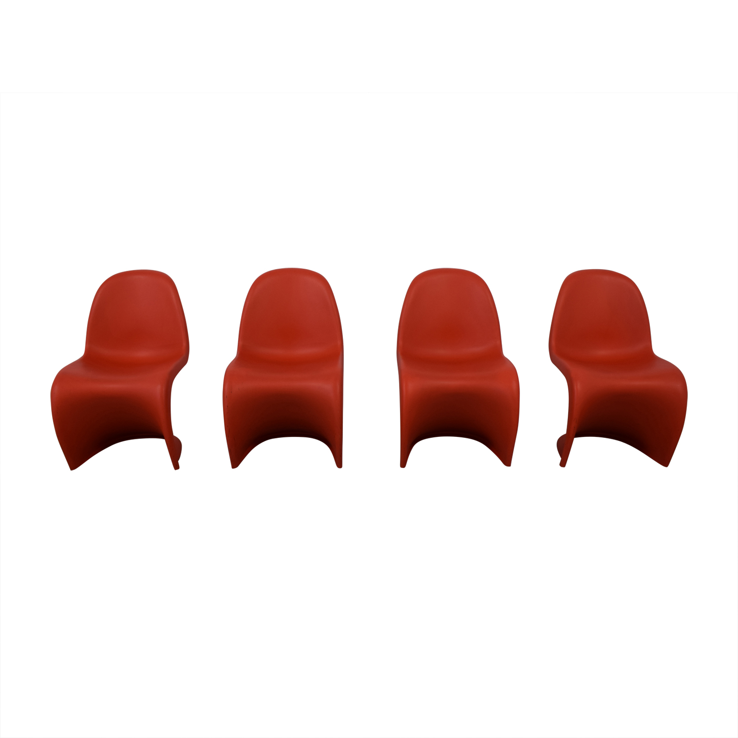 buy Vitra Panton Set Of Four Chairs Vitra Accent Chairs