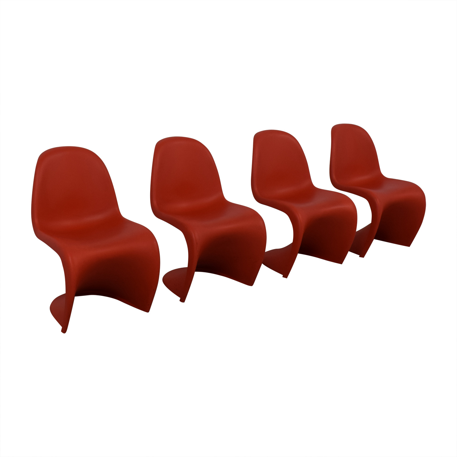 Vitra Panton Set Of Four Chairs Vitra