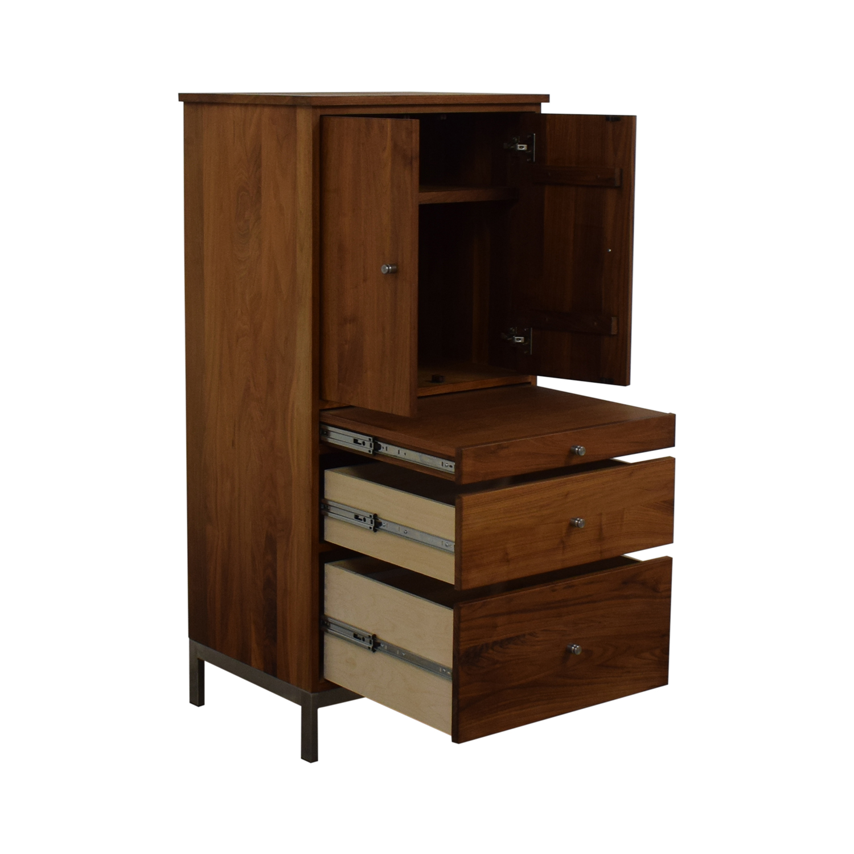 shop Room & Board Linear Two-Door Office Armoire Room & Board Storage