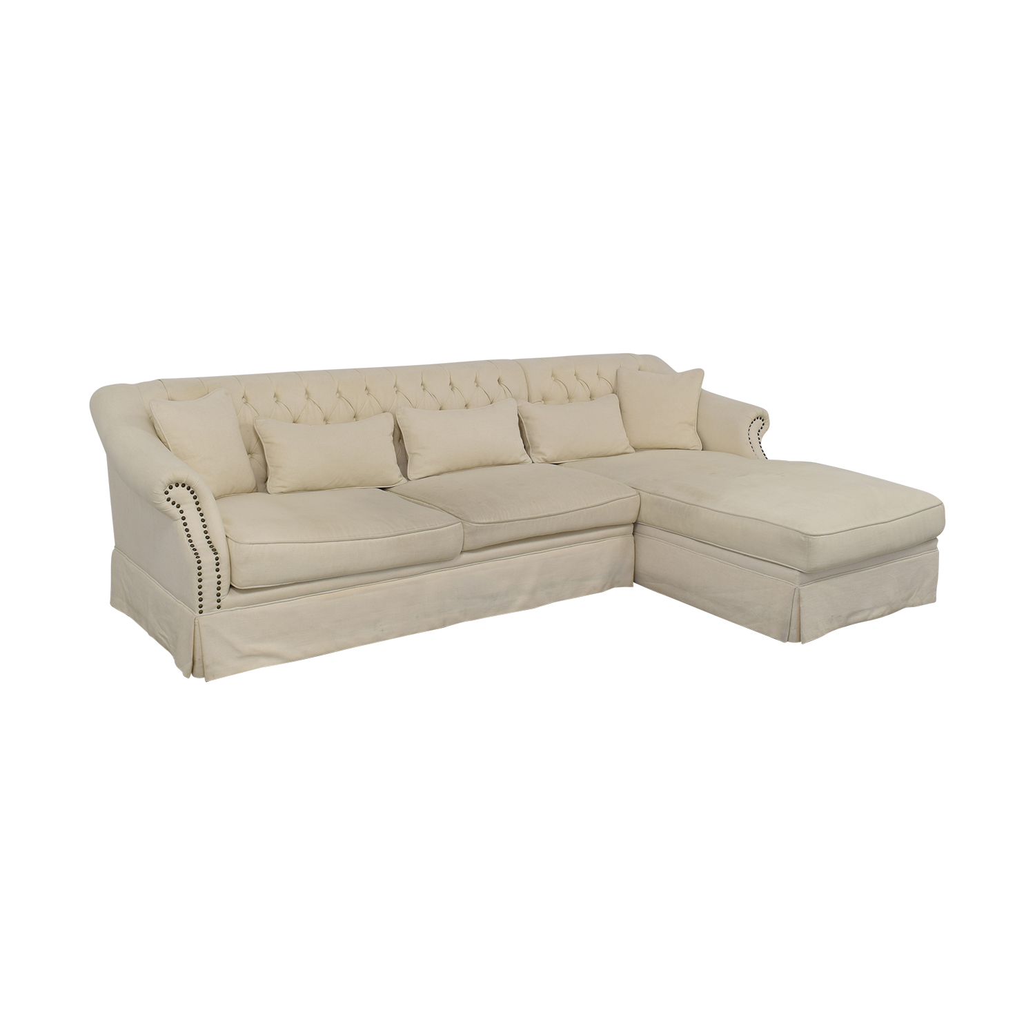 buy ABC Carpet & Home Chaise Sectional Sofa ABC Carpet & Home Sectionals