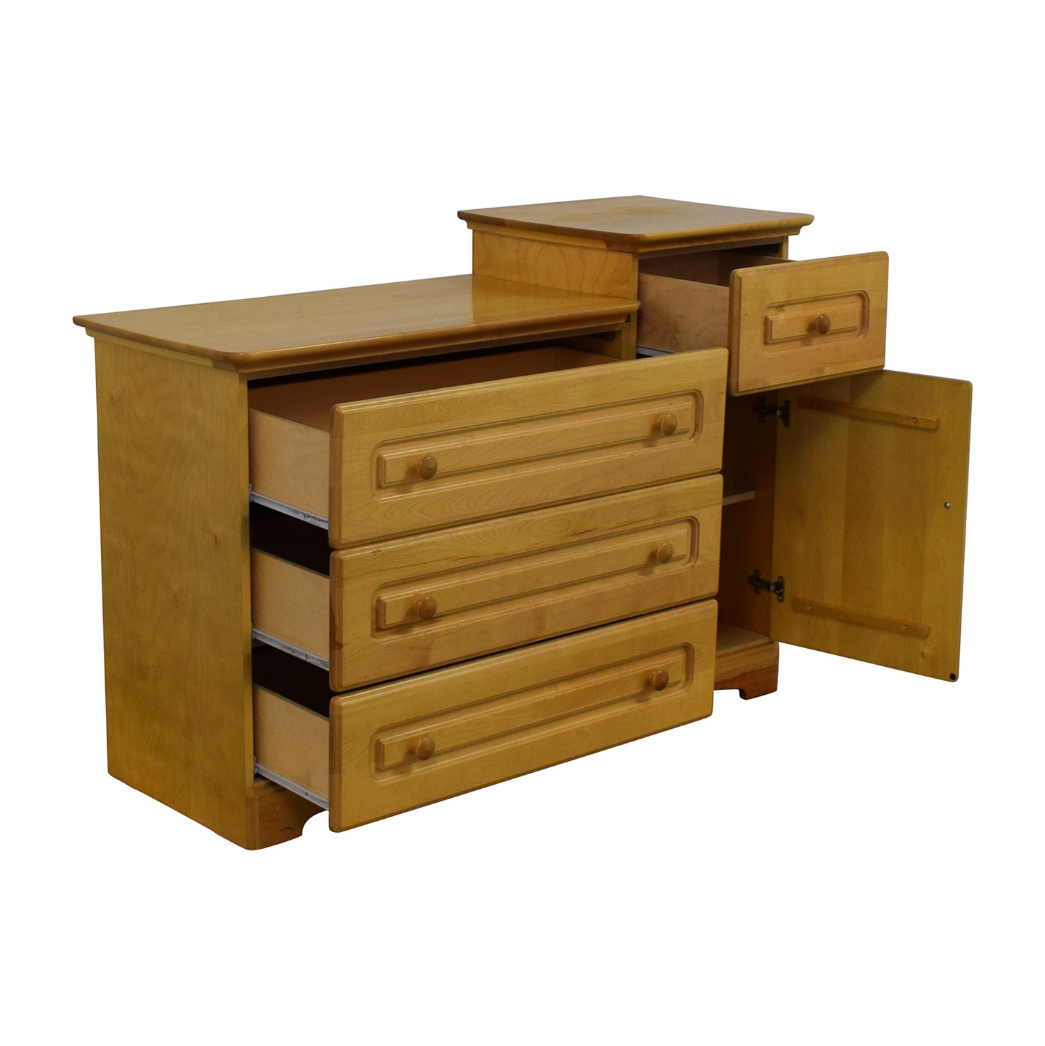 Pali Modern Four Drawer Dresser And Cabinet / Dressers