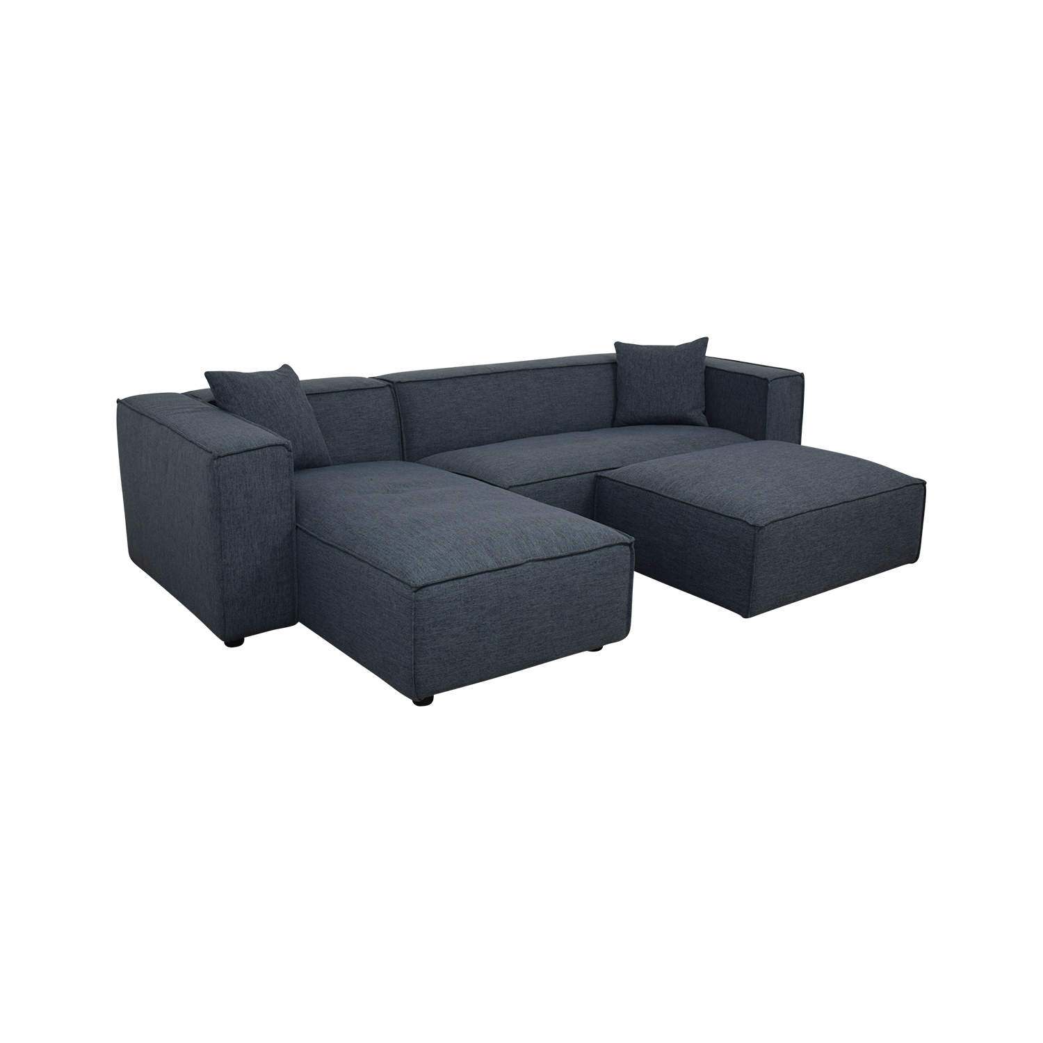 Modern Blue Sectional With Ottoman coupon