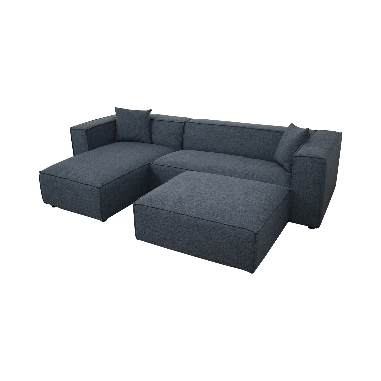 shop  Modern Blue Sectional With Ottoman online