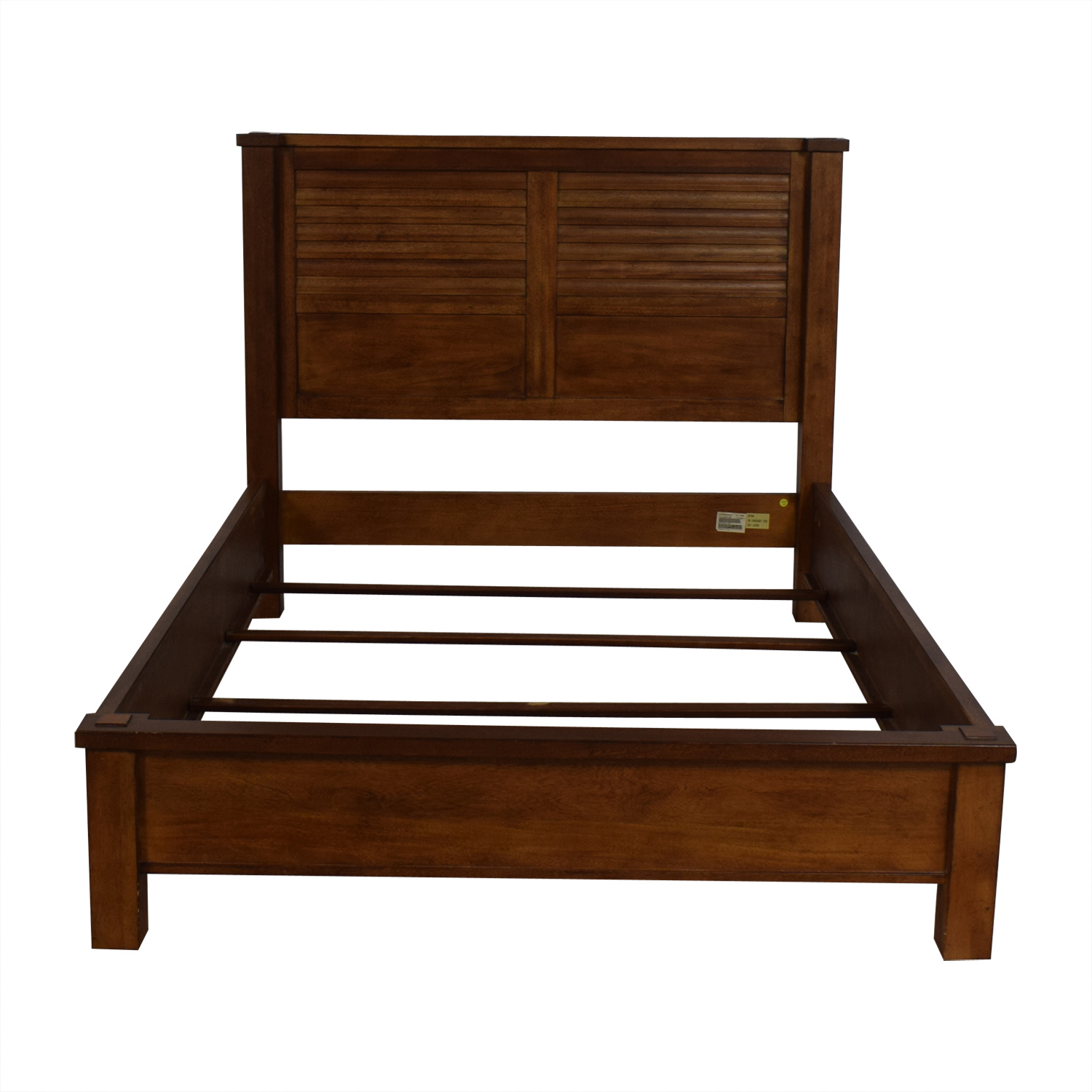 shop Ethan Allen Drake Full Wood Bed Ethan Allen Beds