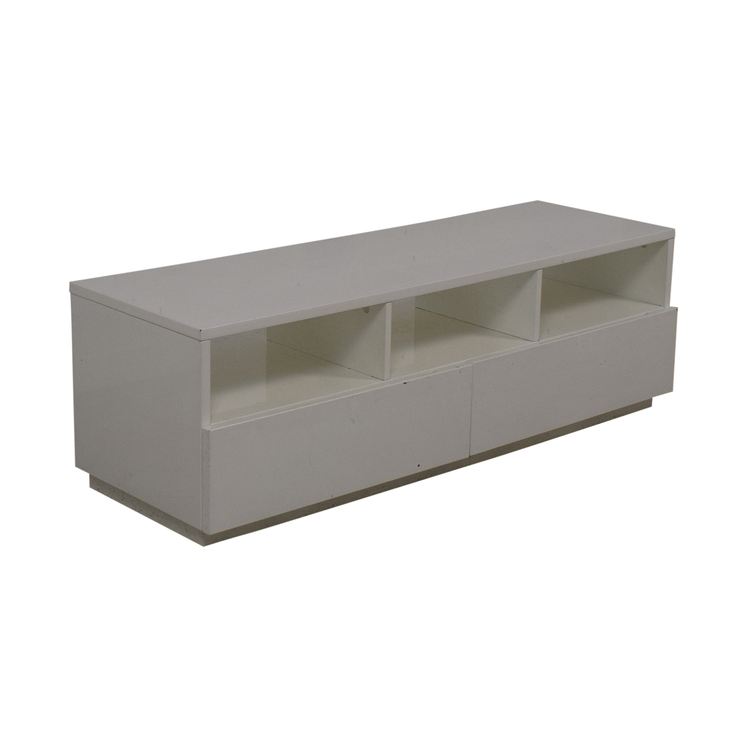 Crate & Barrel CB2 Chill White Media Console white