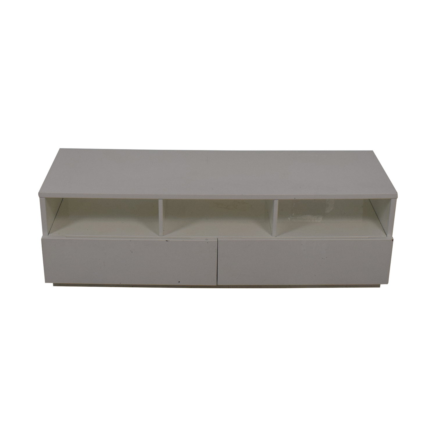 buy CB2 Chill White Media Console Crate & Barrel