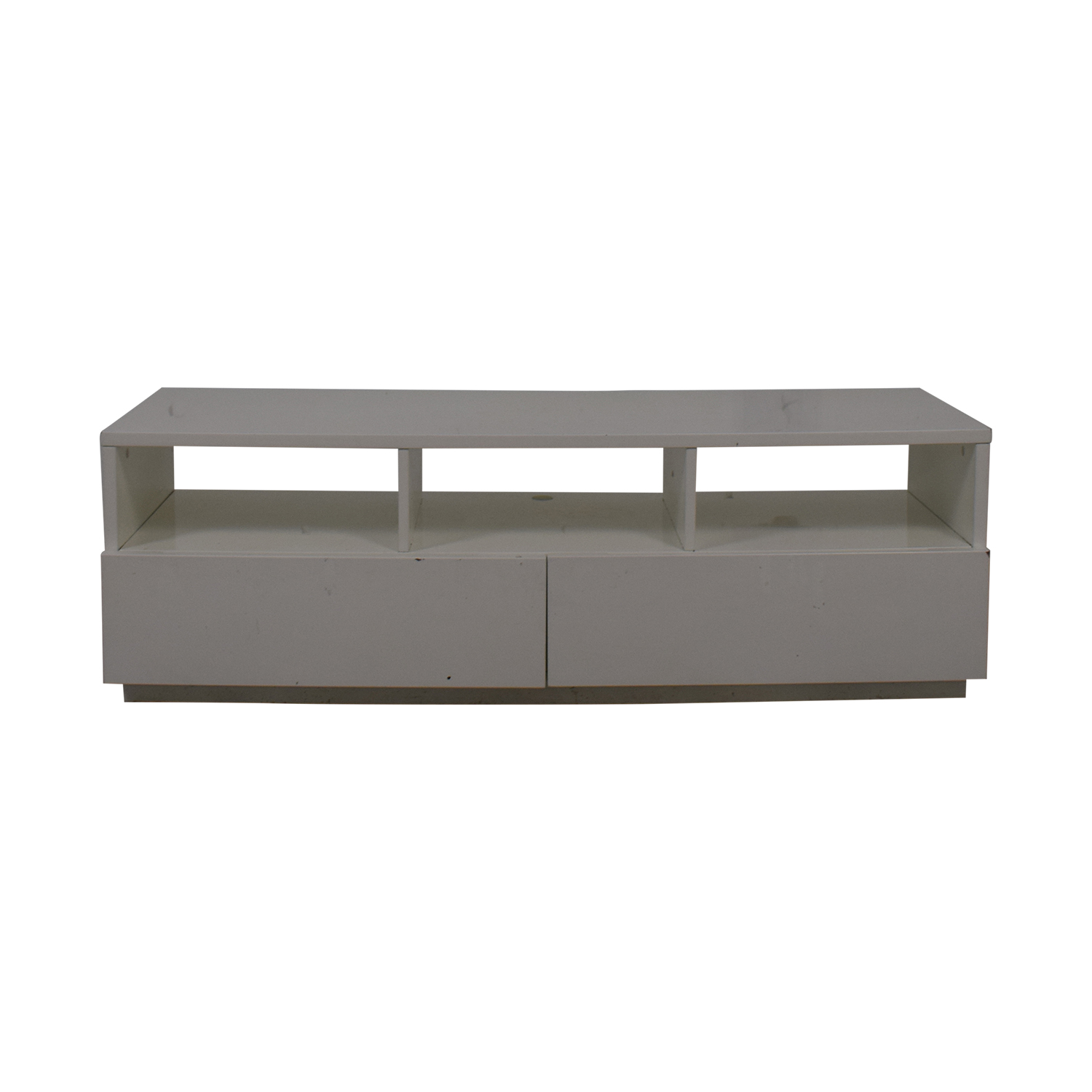 Crate & Barrel CB2 Chill White Media Console dimensions