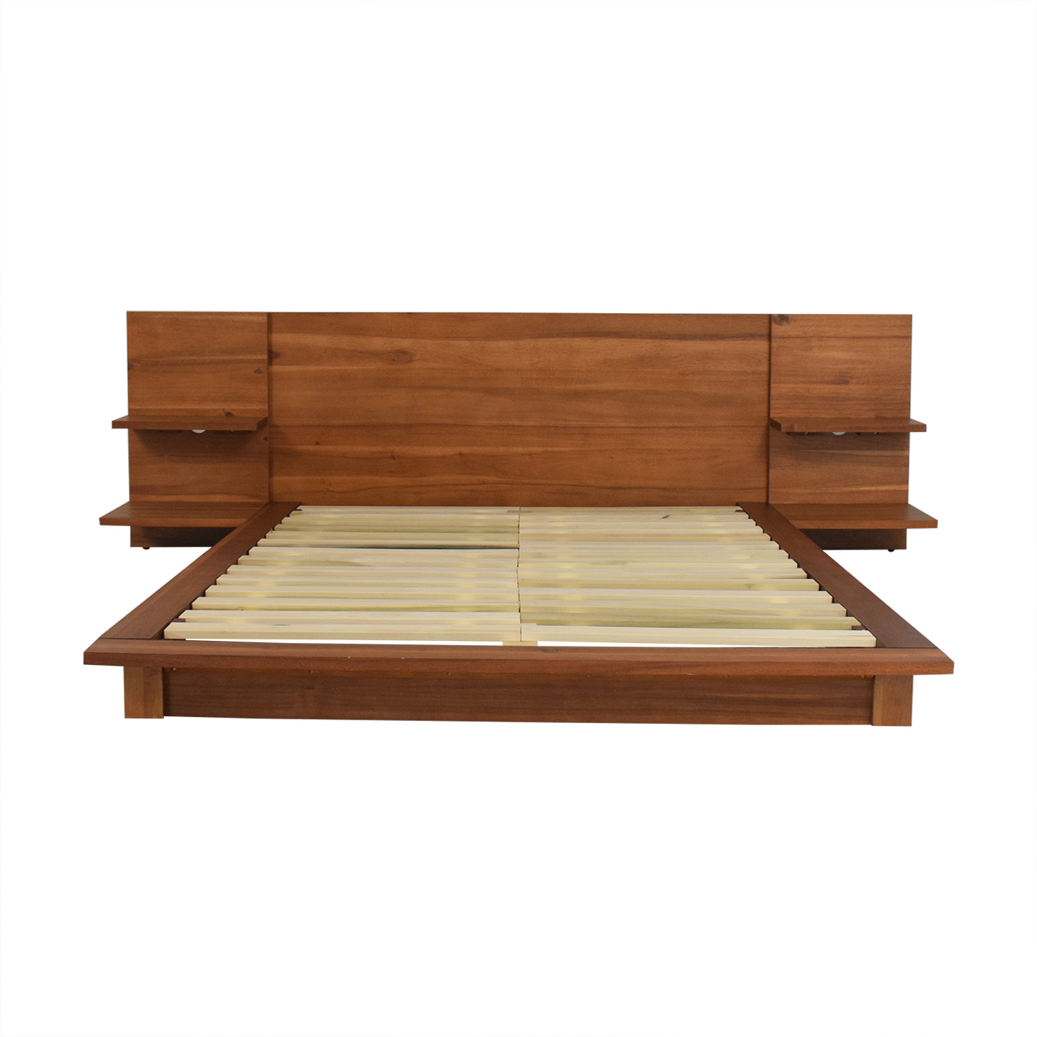 buy CB2 Andes Acacia Full Bed Frame CB2