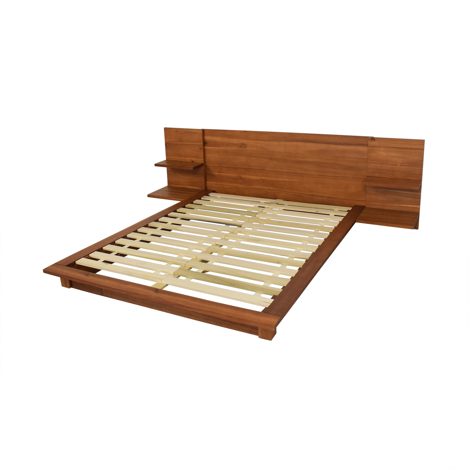 CB2 CB2 Andes Acacia Full Bed Frame second hand