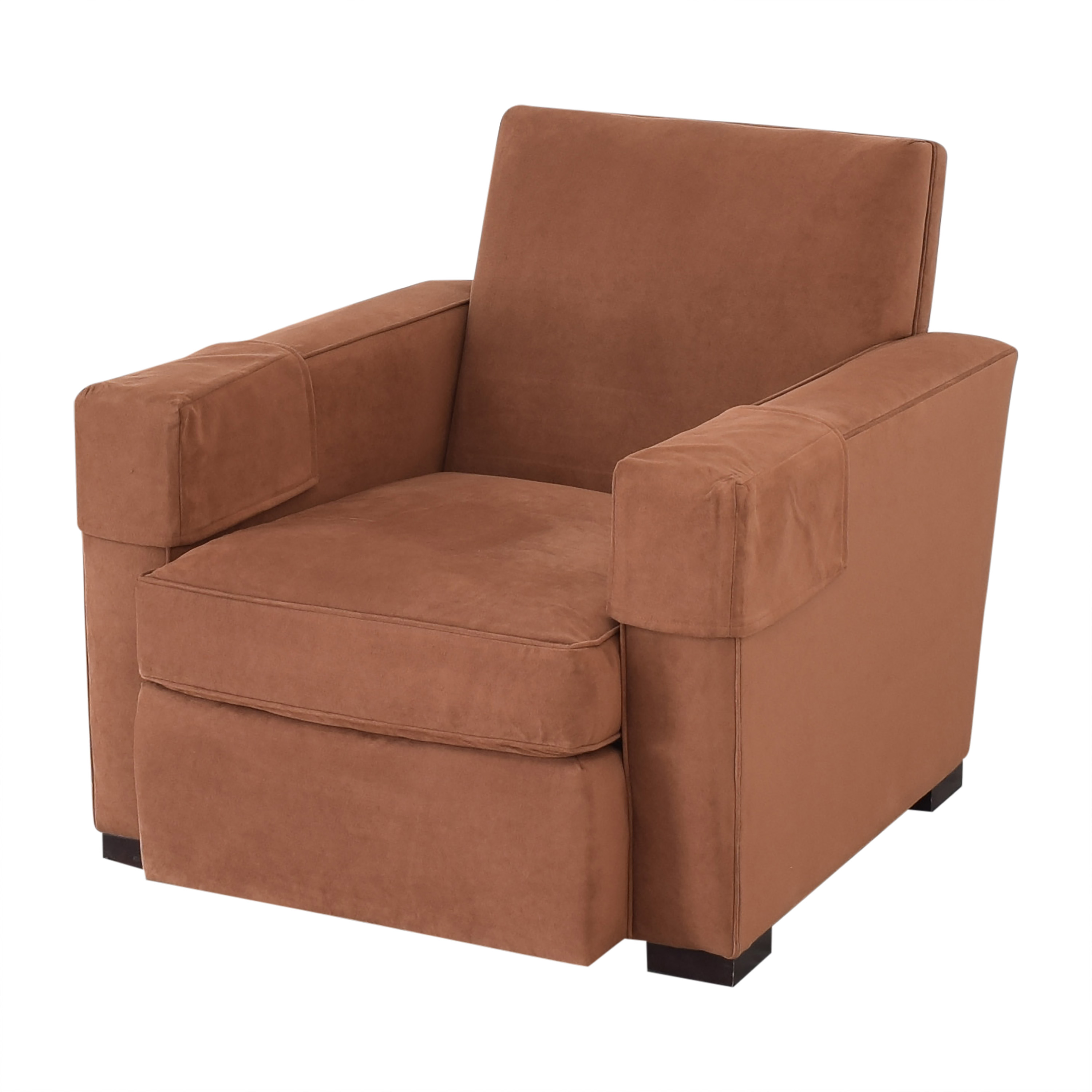 shop Hickory Chair Hickory Chair Ultra Suede Chair and Ottoman online