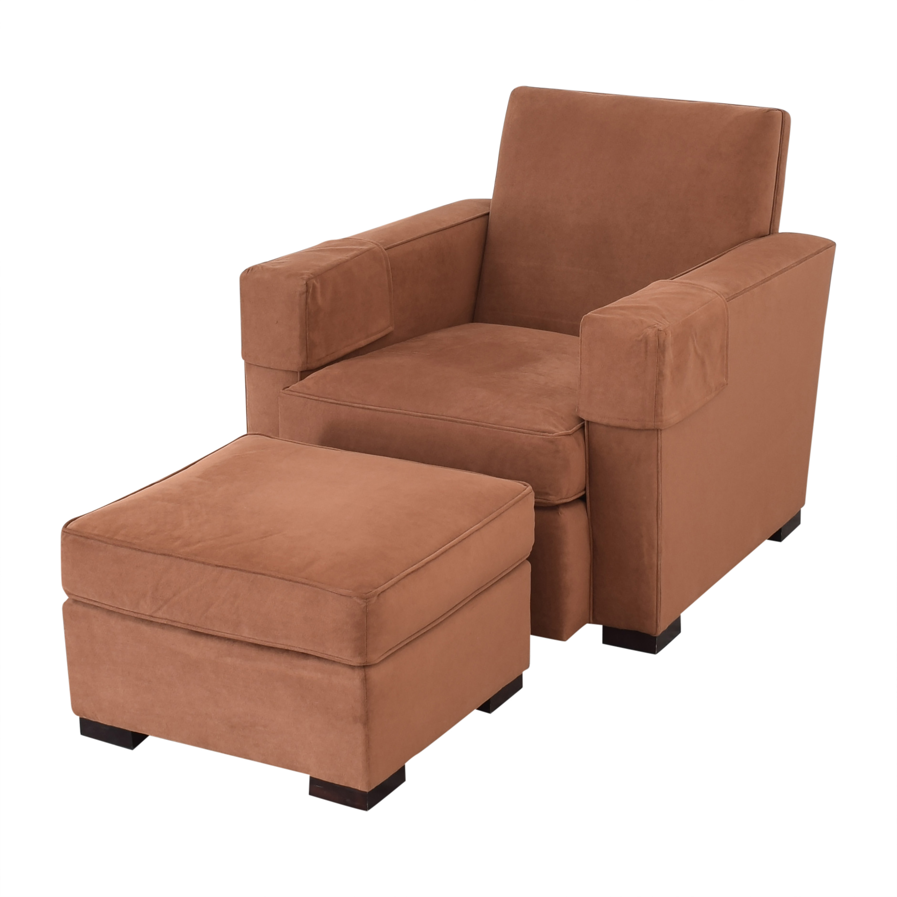 Hickory Chair Hickory Chair Ultra Suede Chair and Ottoman used