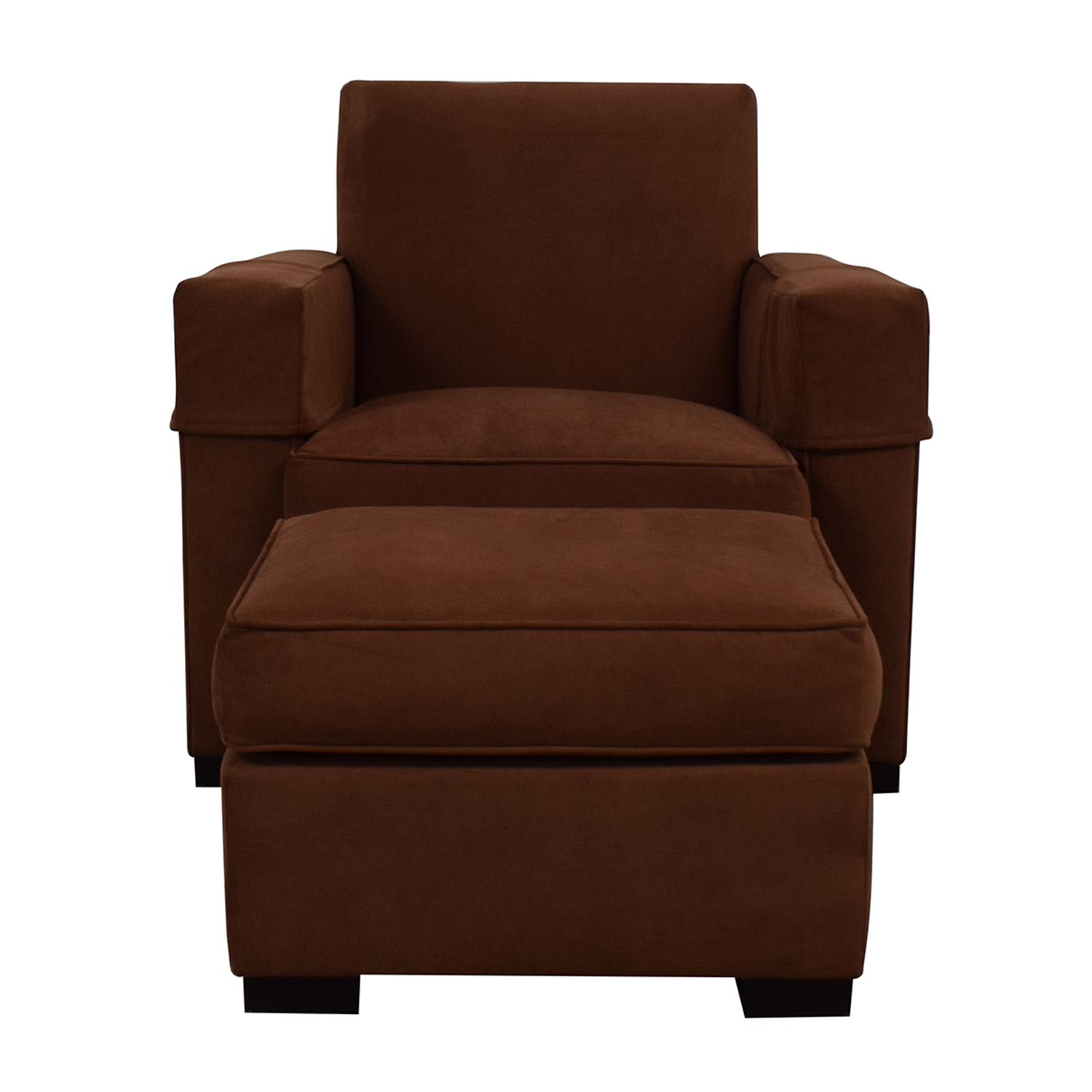 Hickory Chair Hickory Chair Ultra Suede Chair and Ottoman for sale