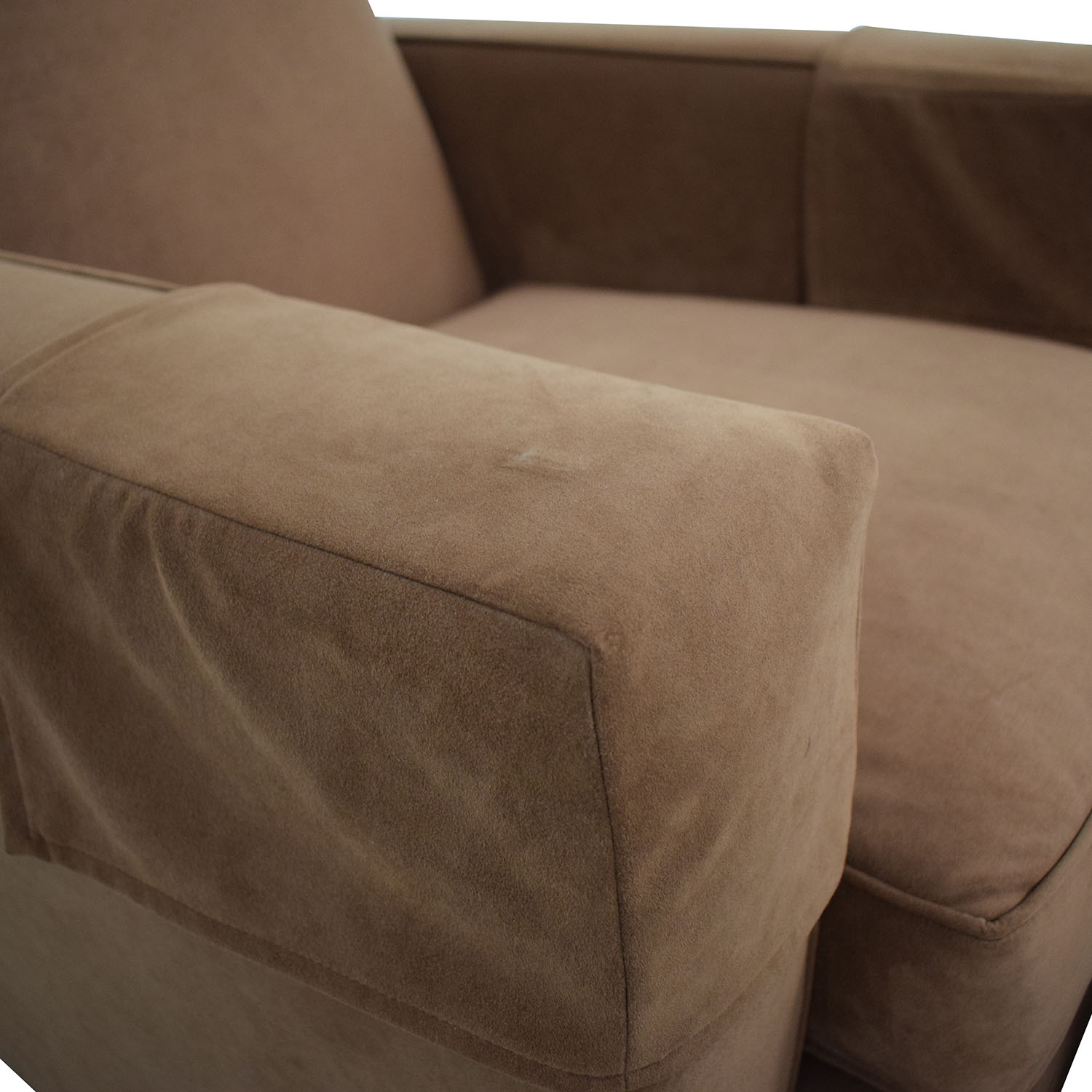 Hickory Chair Hickory Chair Ultra Suede Chair and Ottoman