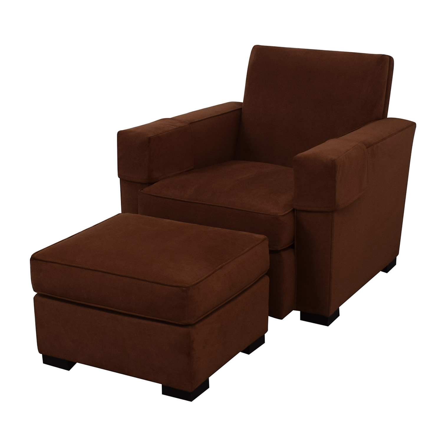 buy Hickory Chair Ultra Suede Chair and Ottoman Hickory Chair