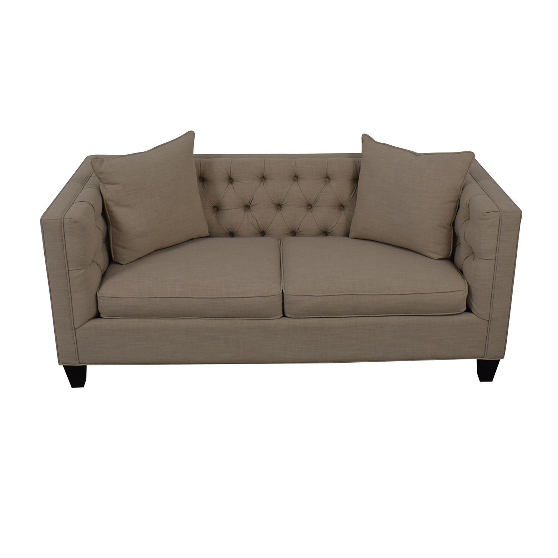 buy Home Decorators Collection Lakewood Beige Linen Sofa Home Decorators Collection Loveseats