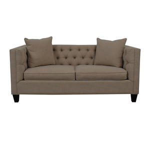 shop Home Decorators Collection Lakewood Beige Linen Sofa Home Decorators Collection