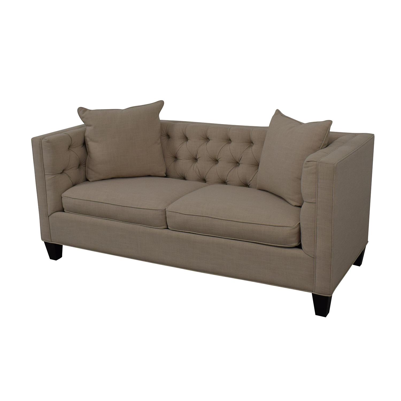 Home Decorators Collection Home Decorators Collection Lakewood Beige Linen Sofa dimensions
