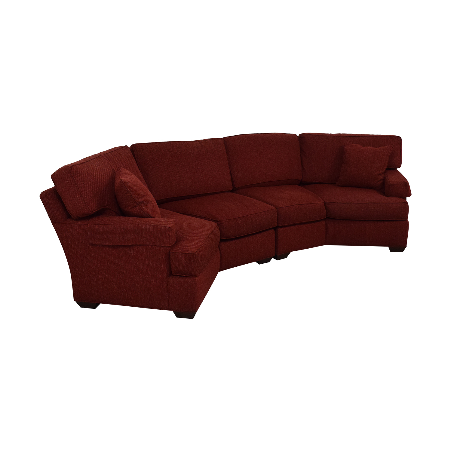 Pearson Red Wedge Sectional Sofa sale