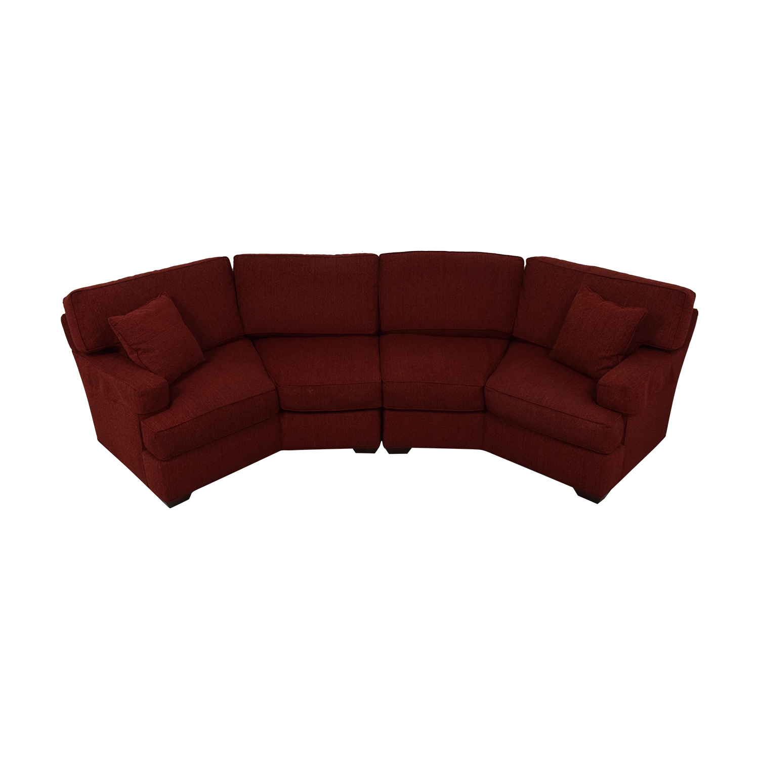 89% OFF - Pearson Pearson Red Wedge Sectional Sofa / Sofas