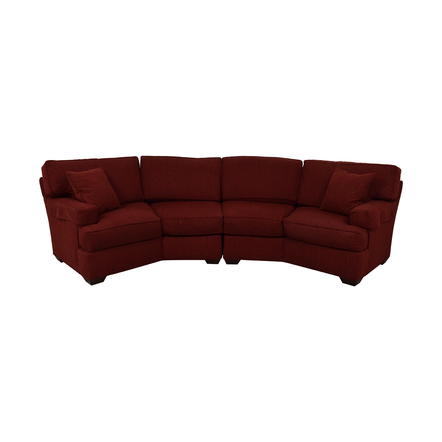 79% OFF - Pearson Pearson Red Wedge Sectional Sofa / Sofas