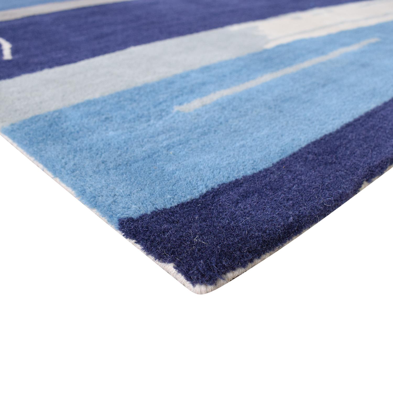 Jaipur Jaipur En Casa by Luli Sanchez Tufted Blue Wool Rug discount