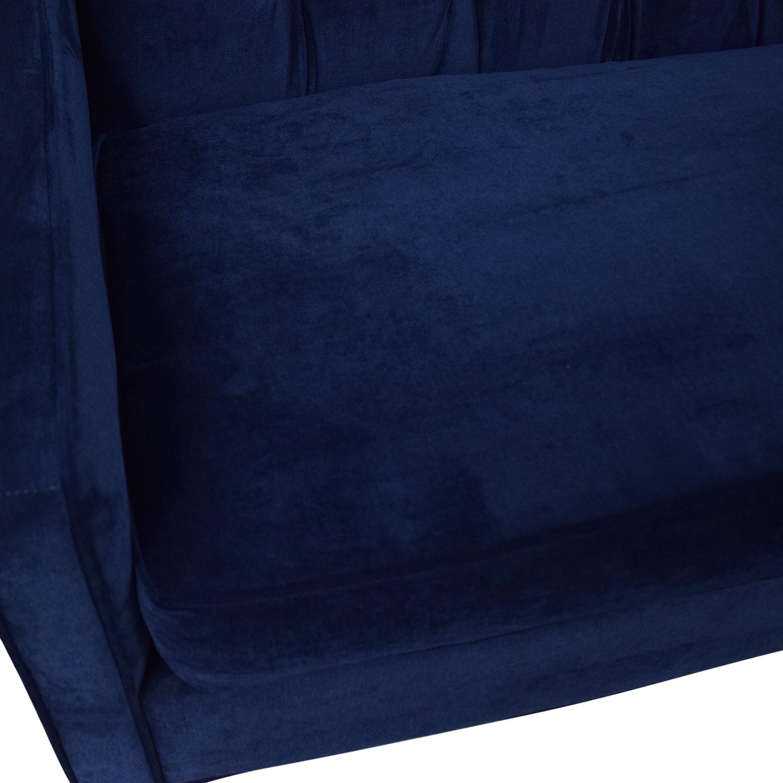 Braxton Culler Braxton Culler Blue Tufted Sofa price