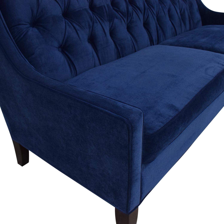 Braxton Culler Braxton Culler Blue Tufted Sofa Classic Sofas
