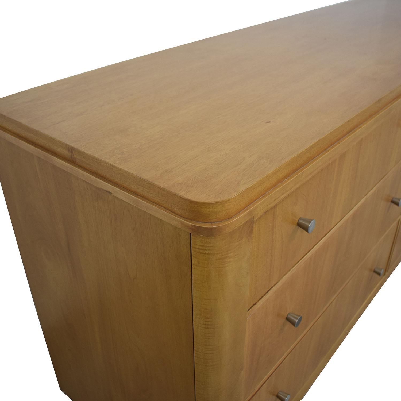 shop Ethan Allen Radius Six Drawer Dresser Ethan Allen Storage