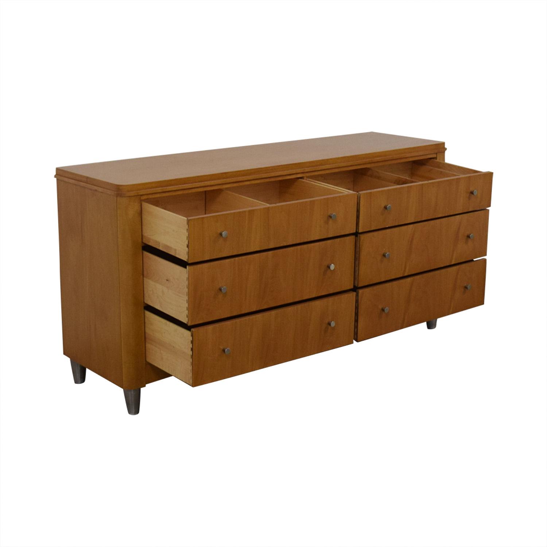 buy Ethan Allen Radius Six Drawer Dresser Ethan Allen Storage