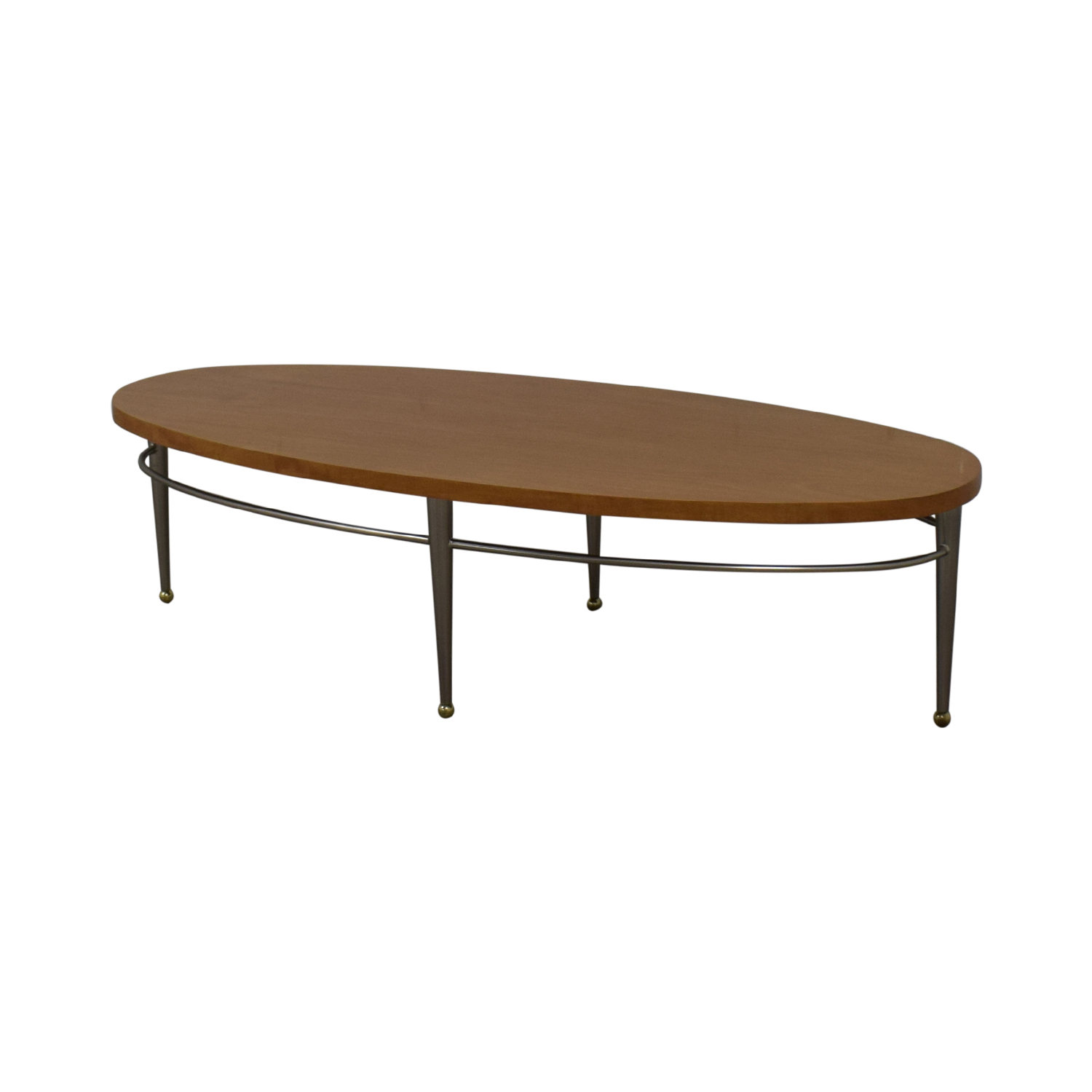 shop Ethan Allen Round Wood Coffee Table Ethan Allen