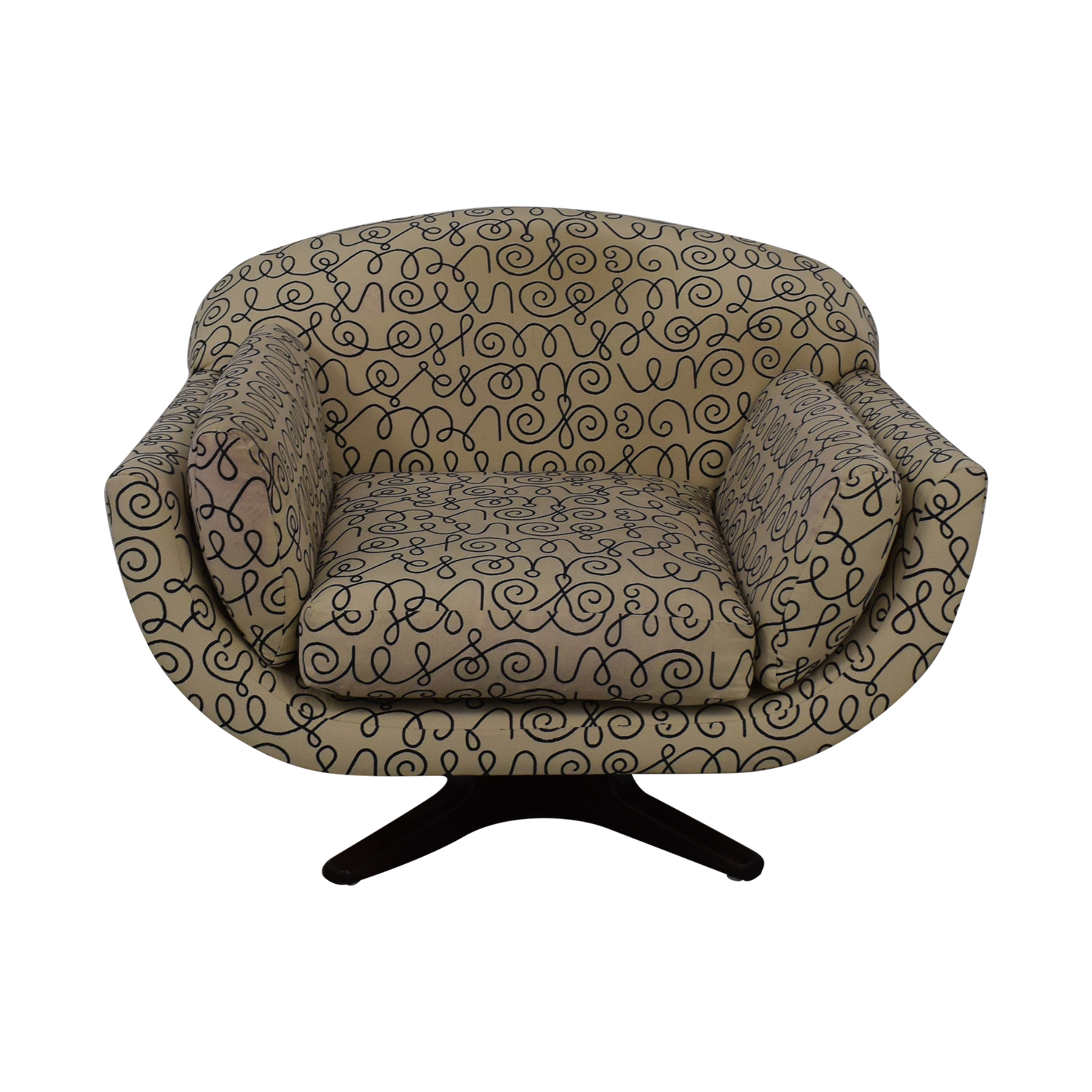 Decorative Swivel Accent Chair used