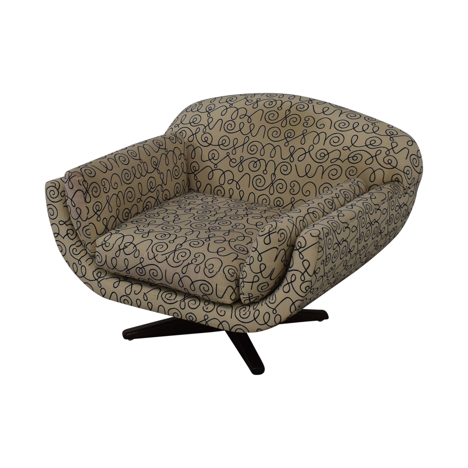shop Decorative Swivel Accent Chair  Accent Chairs