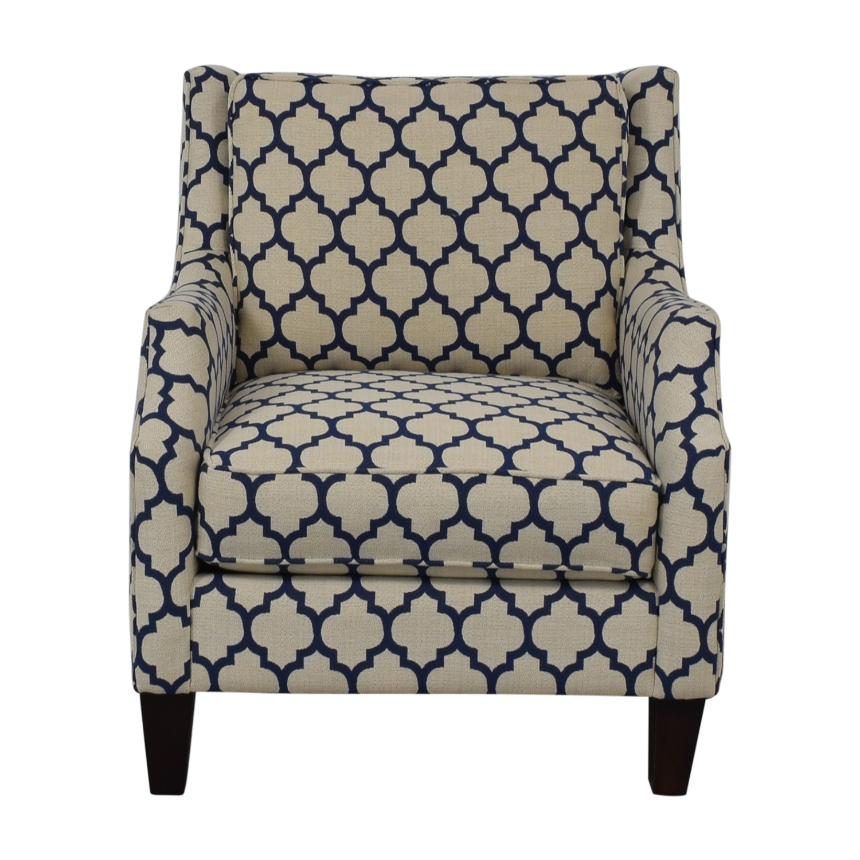 Braxton Culler Braxton Culler White & Blue Armchair nyc