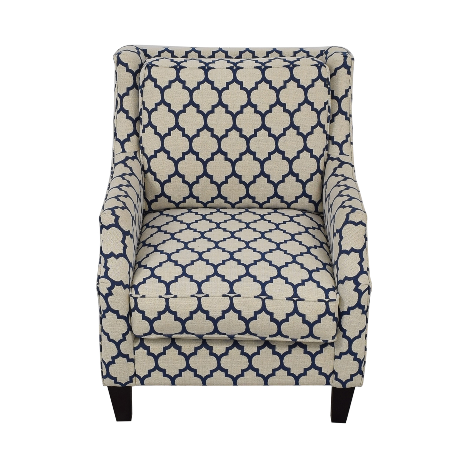 shop Braxton Culler White & Blue Accent Chair Braxton Culler Accent Chairs
