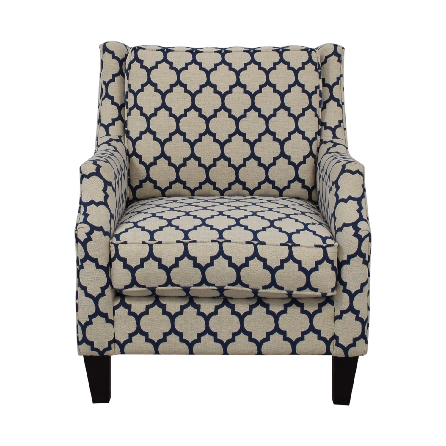 buy Braxton Culler Braxton Culler White & Blue Accent Chair online