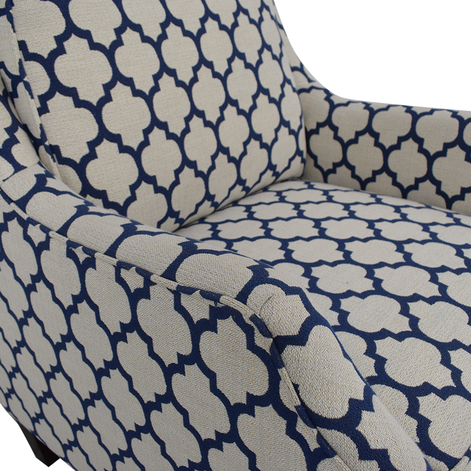 Braxton Culler Braxton Culler White & Blue Accent Chair nj
