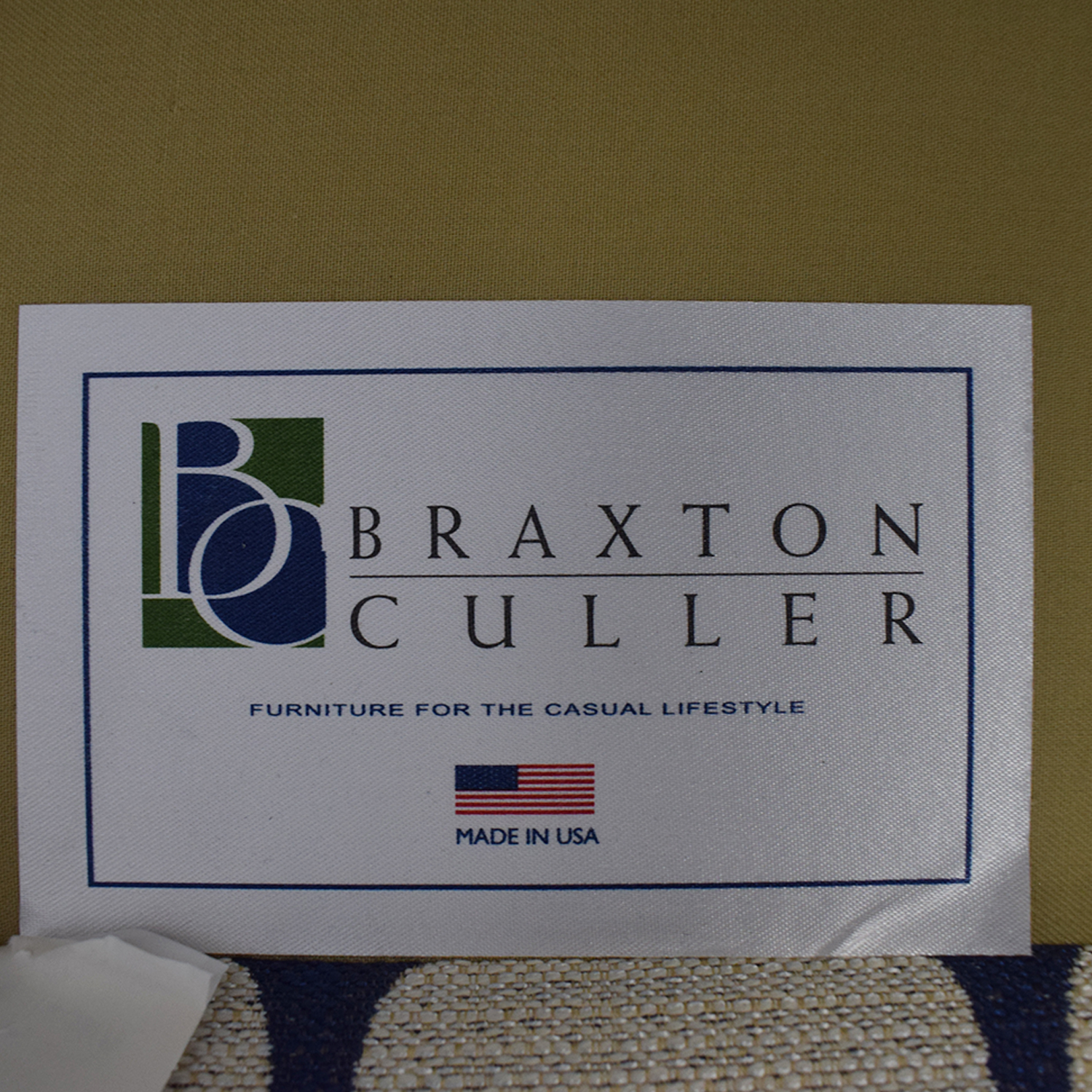 buy Braxton Culler White & Blue Accent Chair Braxton Culler