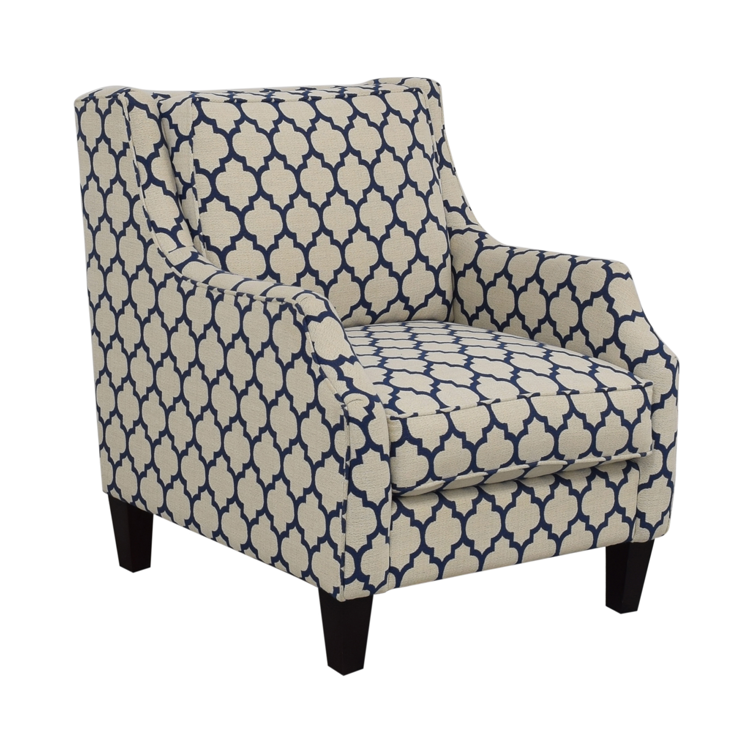 Braxton Culler Braxton Culler White & Blue Accent Chair Chairs