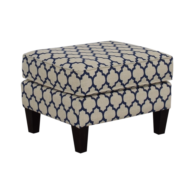 buy Braxton Culler Braxton Culler White & Blue Ottoman online