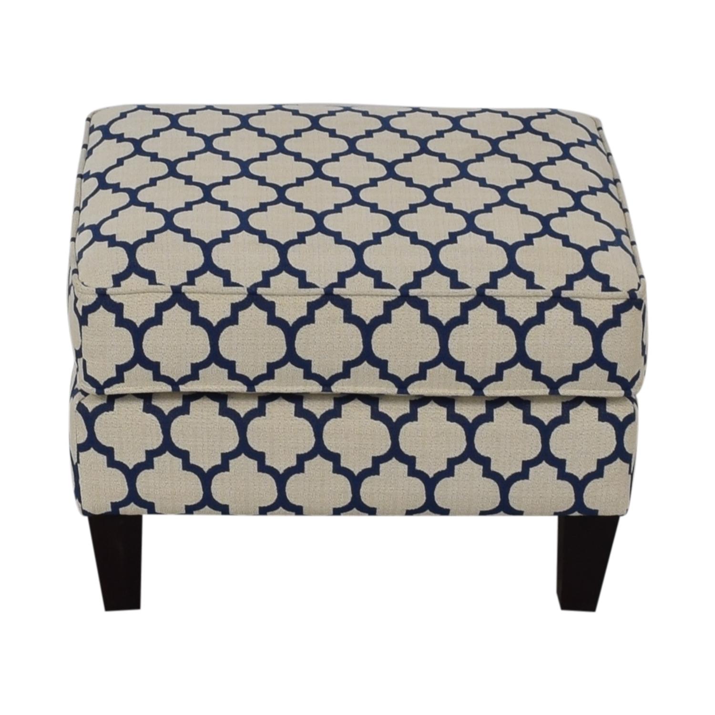 shop Braxton Culler White & Blue Ottoman Braxton Culler Chairs