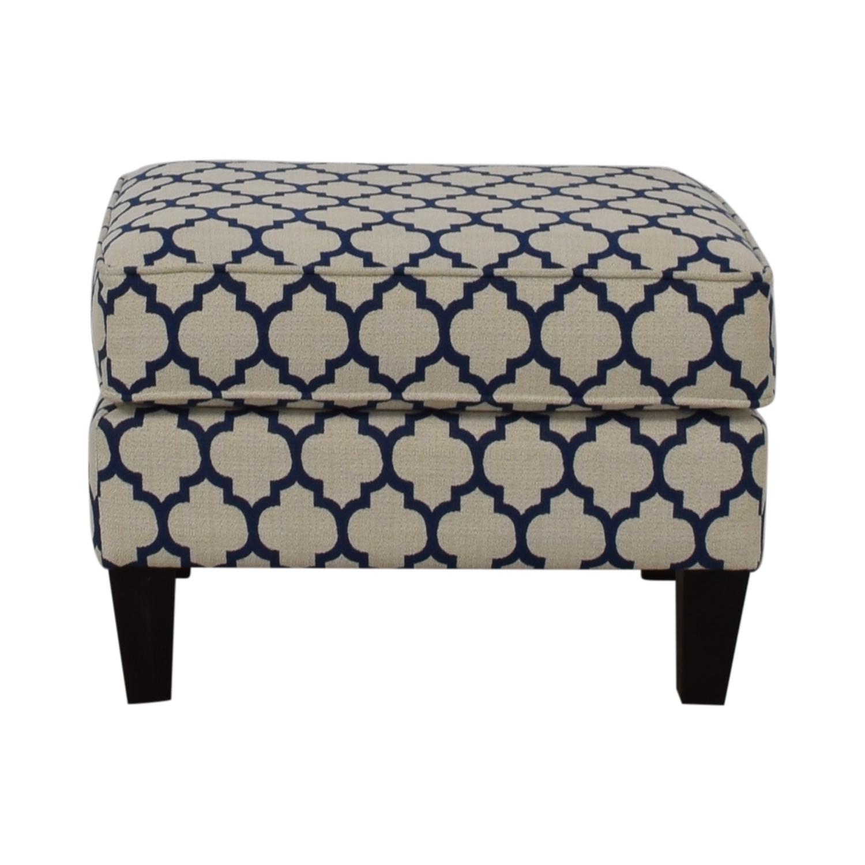 shop Braxton Culler White & Blue Ottoman Braxton Culler