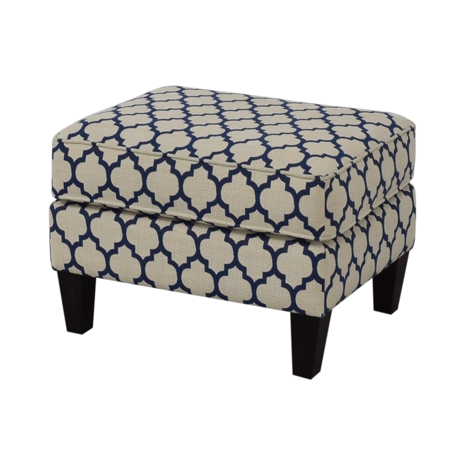 buy Braxton Culler White & Blue Ottoman Braxton Culler Chairs