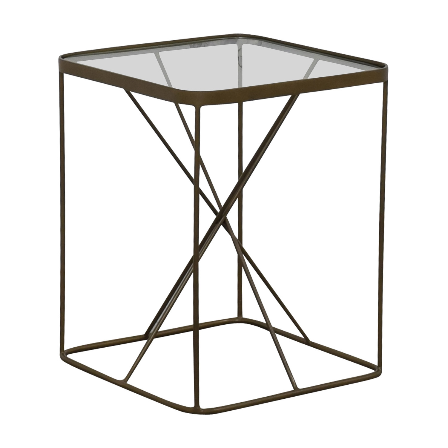 Four Hands Four Hands Glass And Brass End Table for sale