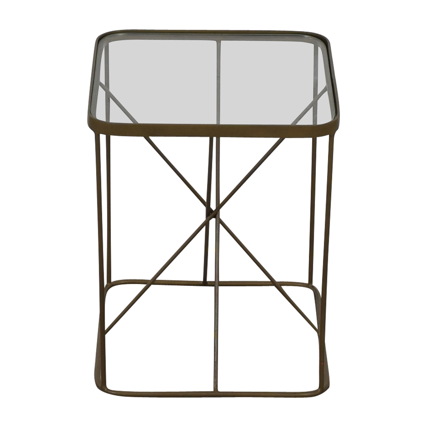 Four Hands Four Hands Glass And Brass End Table on sale