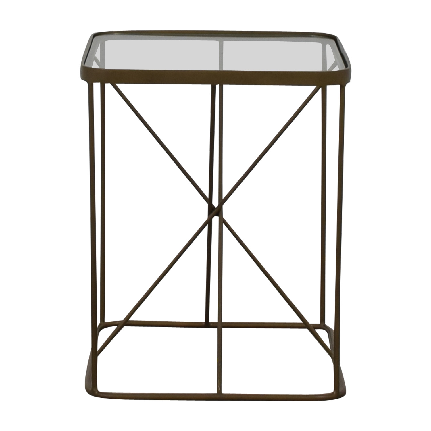 Four Hands Four Hands Glass And Brass End Table discount