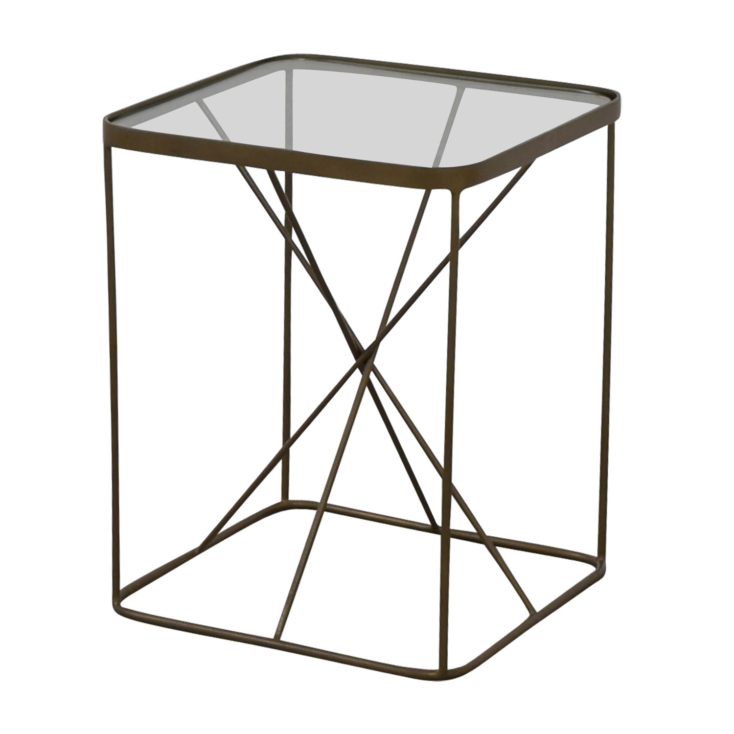 Four Hands Four Hands Glass And Brass End Table nj