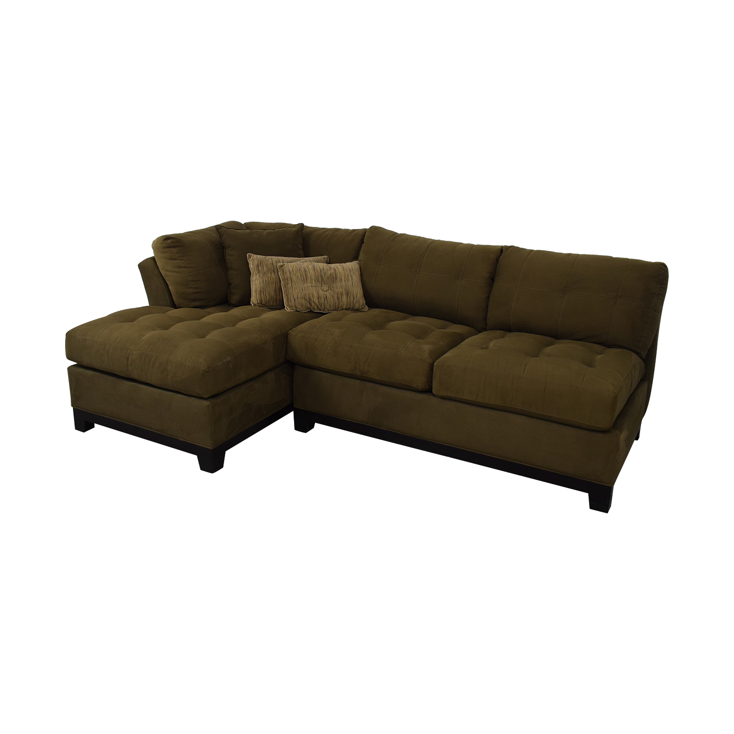 shop Cindy Crawford Home Metropolis Microfiber Sectional Sofa Cindy Crawford Home Sectionals