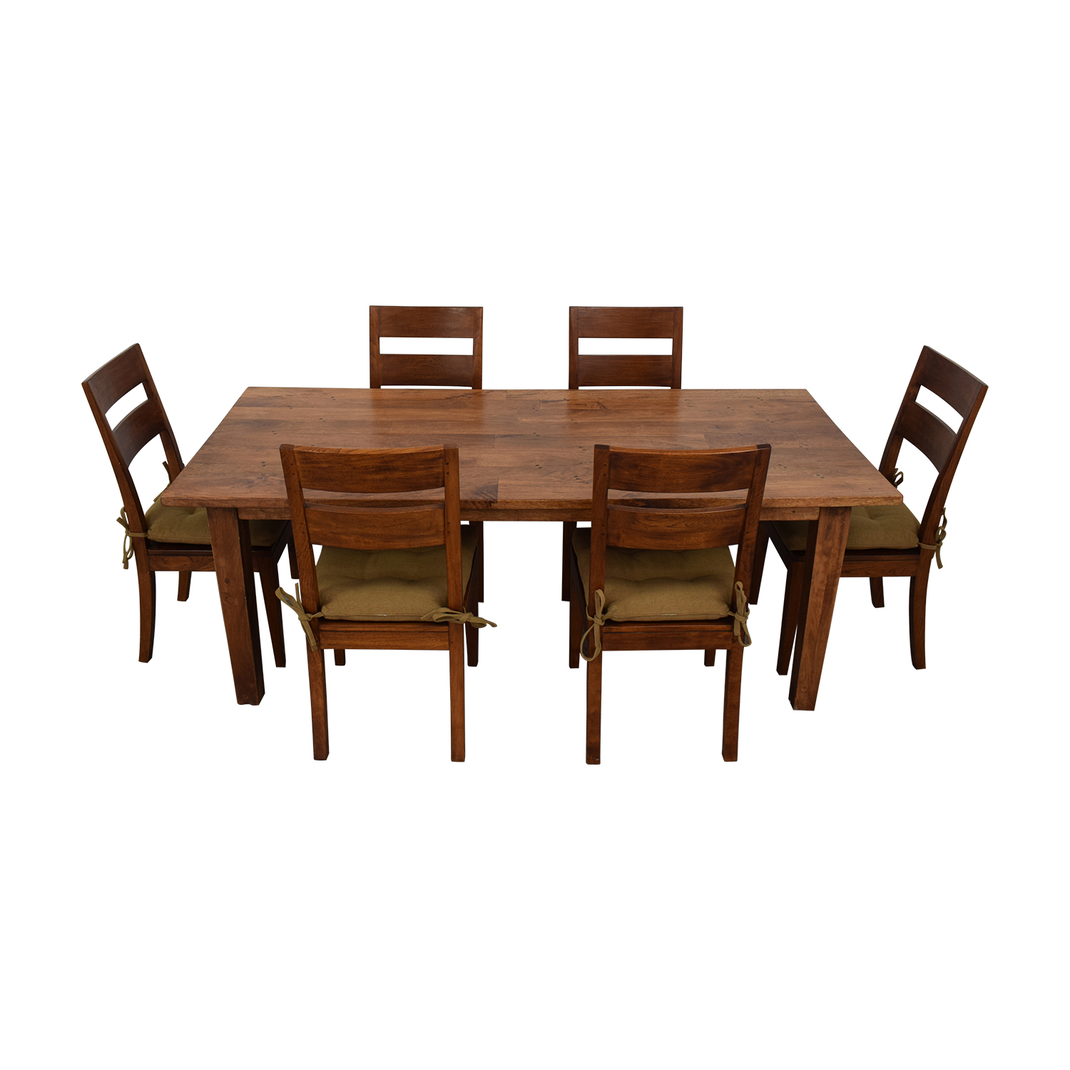 Crate & Barrel Basque Dining Table and Six Chairs sale