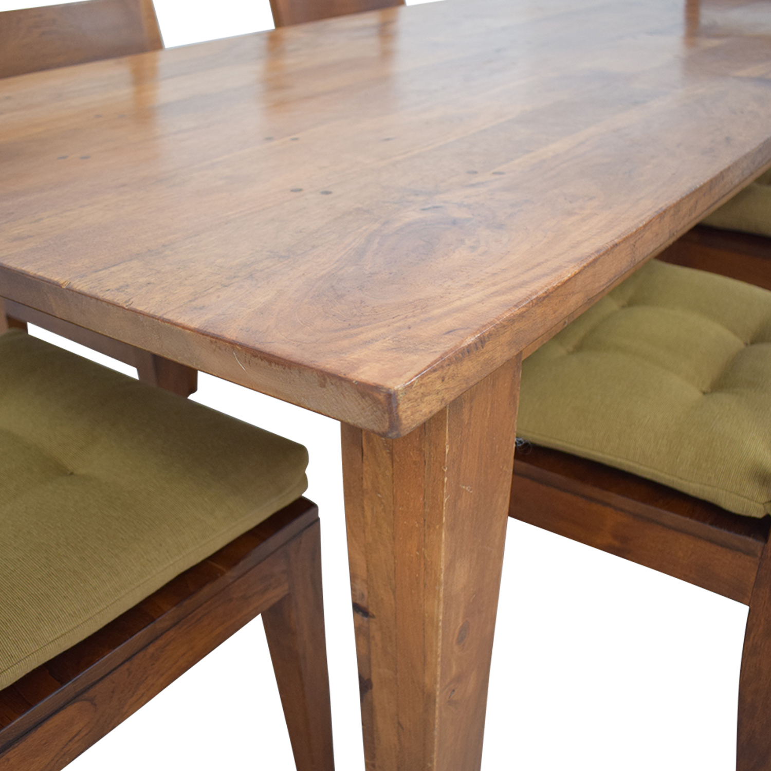 Crate & Barrel Basque Dining Table and Six Chairs / Tables